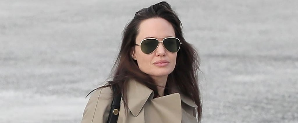 "Everything About Angelina Jolie's Winter Travel Outfit Says ""Jet-Setter"""