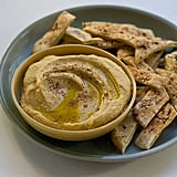 Winter Squash Hummus With Za'atar Dusted Pita Chips