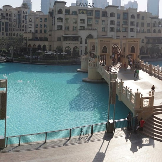 Dubai Fountain Changing Color For Breast Cancer Awareness