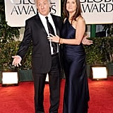 Dustin Hoffman and Lisa Gottsegen arrive.