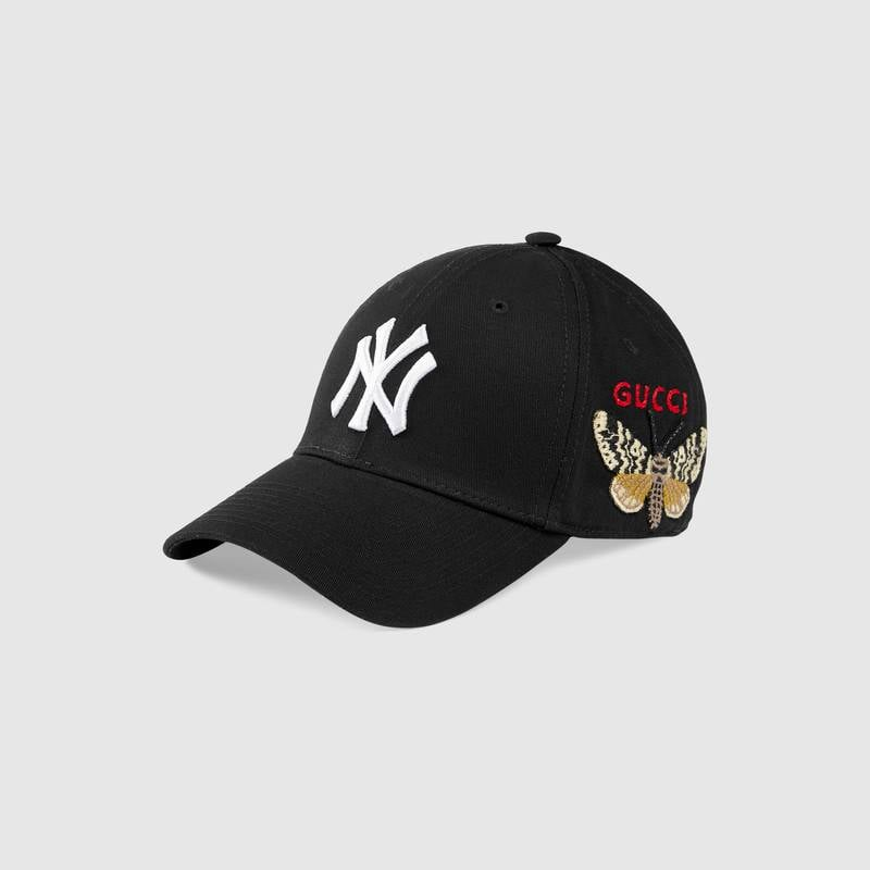 Gucci Baseball Cap With NY Yankees Patch  b2345a0a151