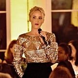 Jennifer Lawrence Looks Sheerly Sexy During a Glamorous Night Out at a Star-Filled Charity Gala