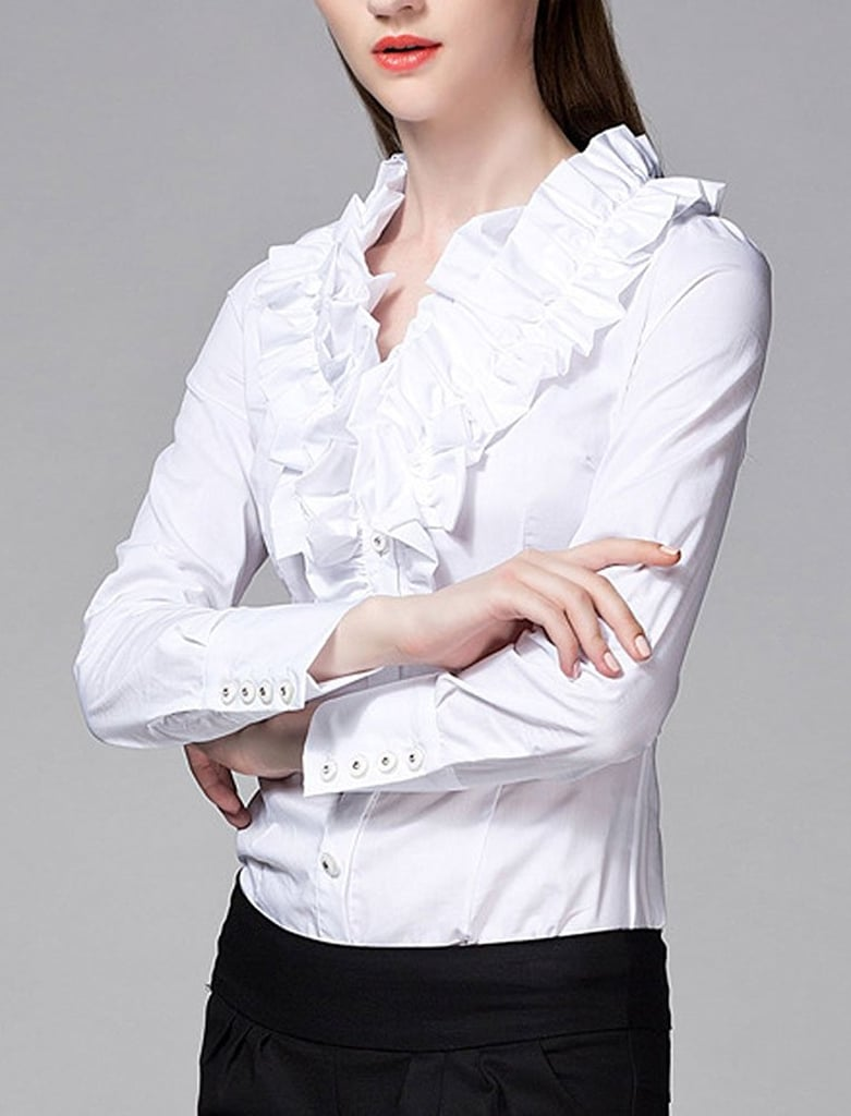 238fc84400c41c White Button Down Shirt Bodysuit – EDGE Engineering and Consulting ...