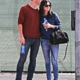 Couurteney Cox and Johnny McDaid showed PDA in West Hollywood on Tuesday.