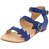 How cool is the geo-shaped strap detail? It's a subtle accent that will certainly draw attention to a perfect pedicure. Samanta Tina Ankle-Strap Flat ($83)