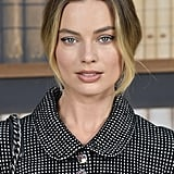 Margot Robbie's Negative Space Eyeliner at the Chanel Show