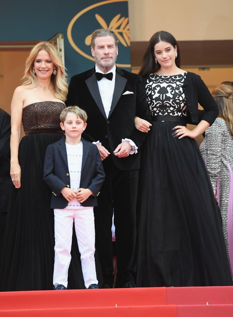 Kelly Preston, John Travolta, Ella Bleu Travolta, and Benjamin Travolta