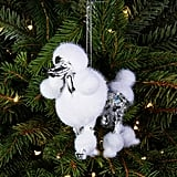 Shiny Silver Poodle Ornament