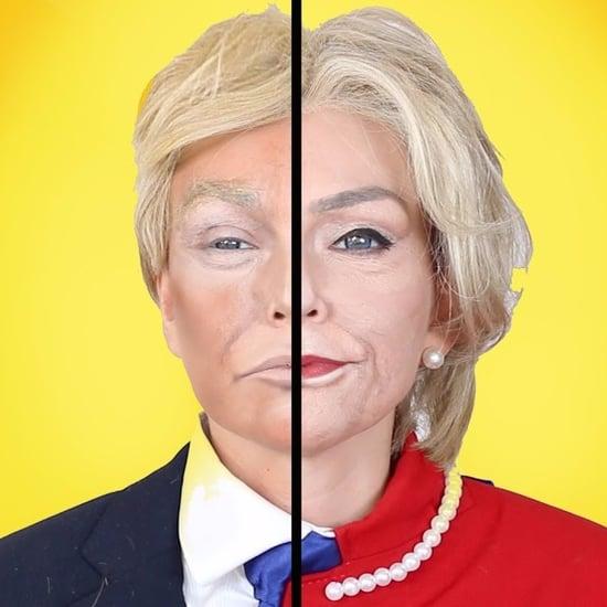 Hillary Clinton and Donald Trump Makeup Transformation