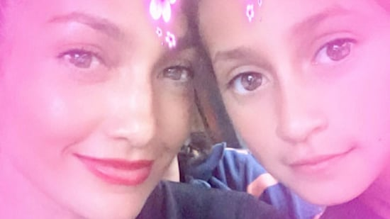 Jennifer Lopez Shares a Sweet Snap With Lookalike Daughter Emme