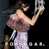 Kendall Jenner Carrying a Feathered Bag to Western-Themed Party