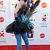 Tori Spelling was one sexy peacock at a Santa Monica event in 2010.