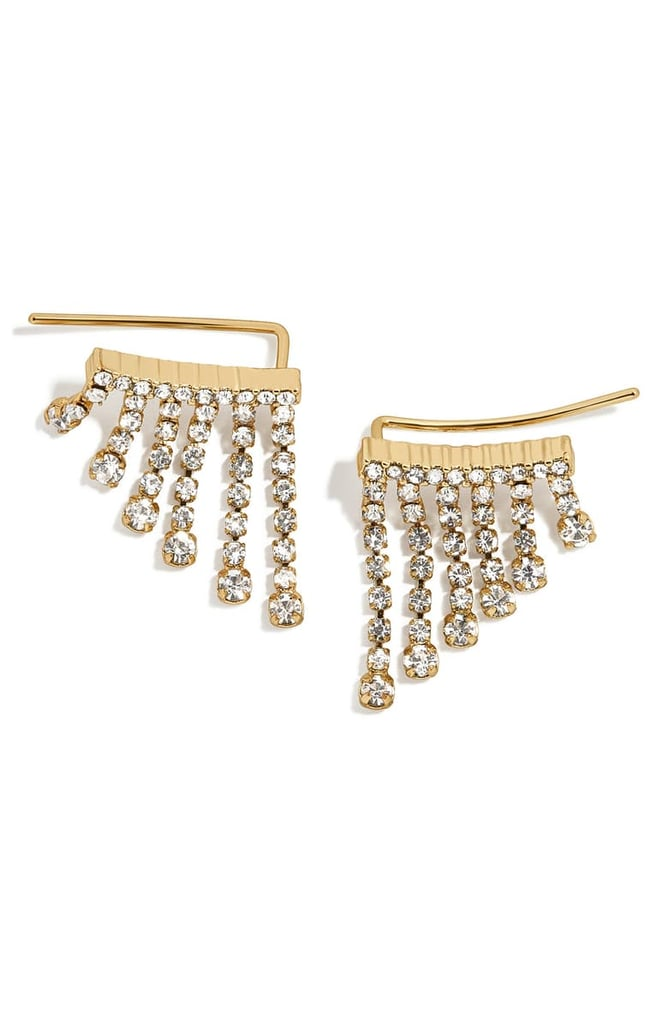 BaubleBar Vela Crystal Fringe Earrings