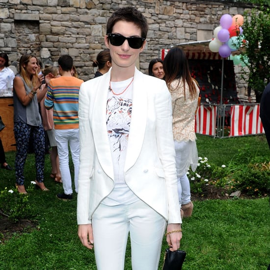 Anne Hathaway White Suit