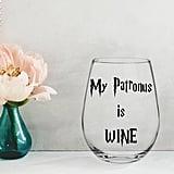 My Patronus Is Wine Glass ($8)