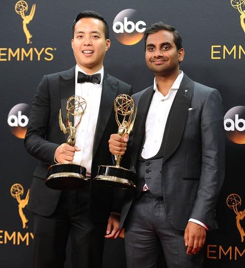 Aziz Ansari & Alan Yang win 2016 Emmy for Writing 'Master of None'