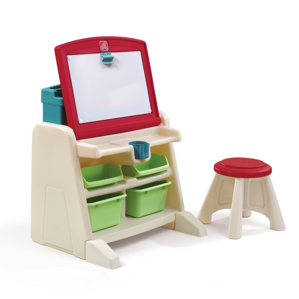 The Step2 Company Flip And Doodle Desk With Stool Easel
