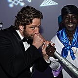 Gerard Butler arrived at the Haiti: Carnival in Cannes event.