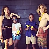"""Madonna considers herself the """"luckiest mom in the world"""" and shared a fun photo of all four of her kids."""