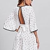 SheIn Bell-Sleeve Polka-Dot Dress