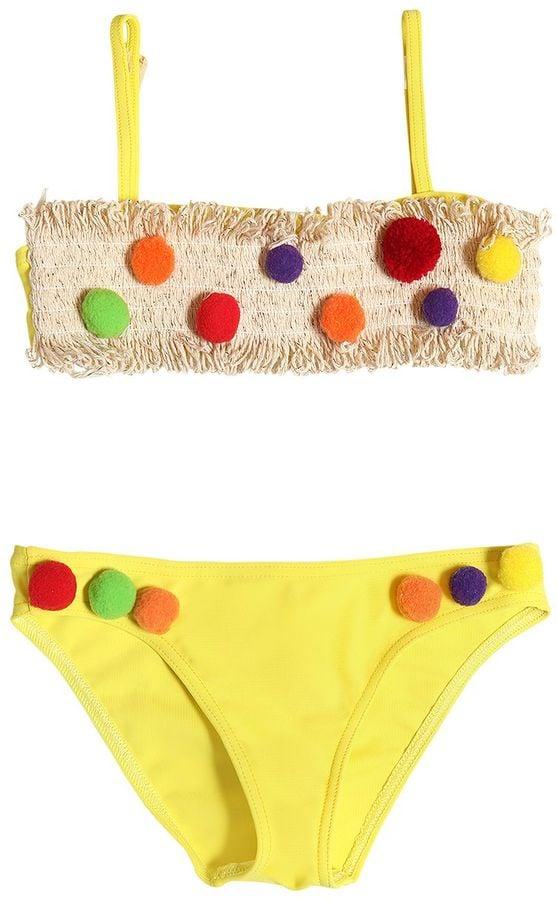 6751215a71c14 Selini Action Pom-Pom & Fringe Lycra Bikini | Trendiest Bathing ...