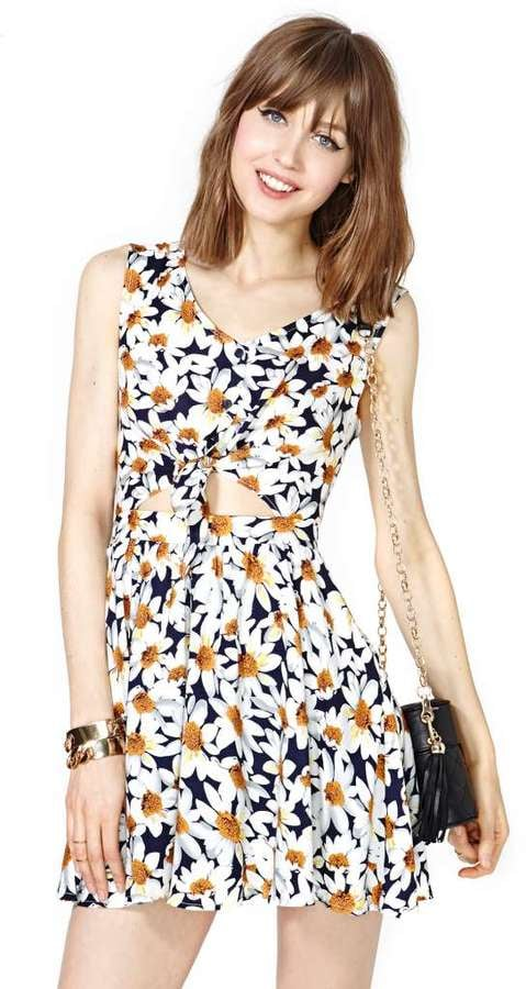 Nasty Gal Floral Knot Dress