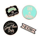 Good Vibes Motivational Inspirational Enamel Lapel Pins