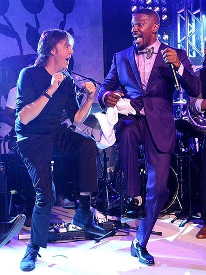 Paul McCartney and Jamie Foxx Get Down in the Hamptons (WATCH)