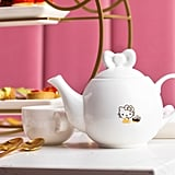A Hello Kitty teapot for the cafe's selection of green, black, oolong, caffeine-free, and custom birthday tea.