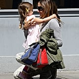 Sarah Jessica Parker hugged her daughter, Tabitha Broderick, in NYC in April 2013.