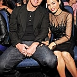 Channing Tatum and his wife, Jenna Dewan, got cute in the audience.