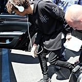 Jaden Smith arrived in Florence.