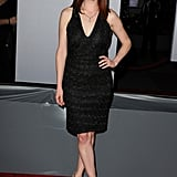 Ellie Kemper in a black dress at the People's Choice Awards.