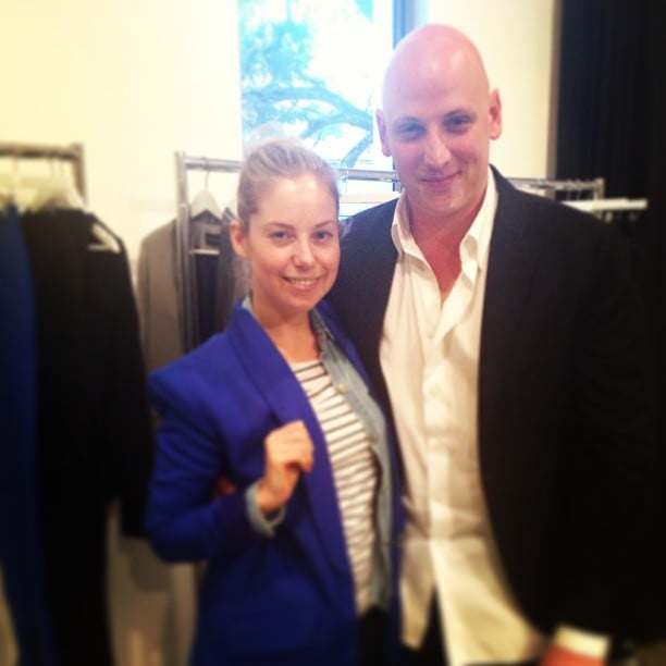 Here's Ali hanging out with designer Michael Lo Sordo at his Spring/Summer collection showing.