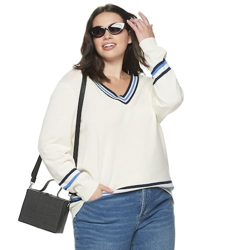 POPSUGAR Plus Size Collegiate Sweater