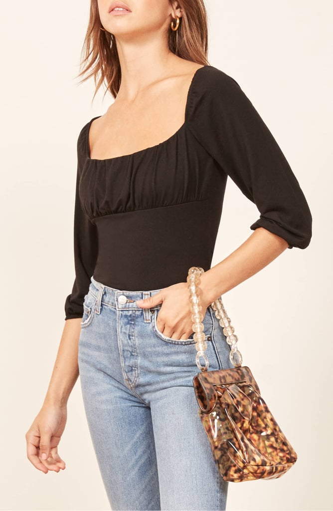 Reformation Mari Top in Black