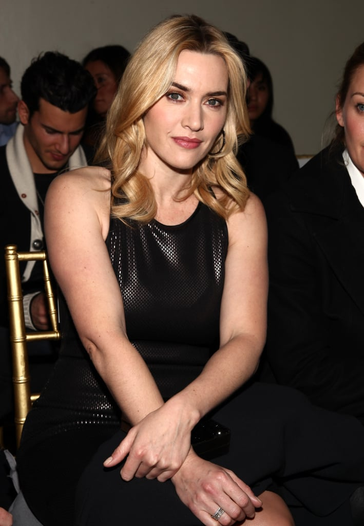 Kate Winslet had a front-row seat at St. John's runway show during NY Fashion Week this evening. She's the current face of the brand and stepped out with St. John designer George Sharp for the opening night of CFDA's new exhibition celebrating 50 years at the Fashion Institute of Technology on Thursday. Kate chose a black dress for the event and a leather look in the same hue for tonight's presentation. Fashion Week is just getting started, and there are more exciting shows to come with Rachel Zoe's presentation on Saturday and Victoria Beckham's taking place on Sunday. We're checking out all the action along with FabSugar so make sure to keep up with all of our Fashion Week coverage!