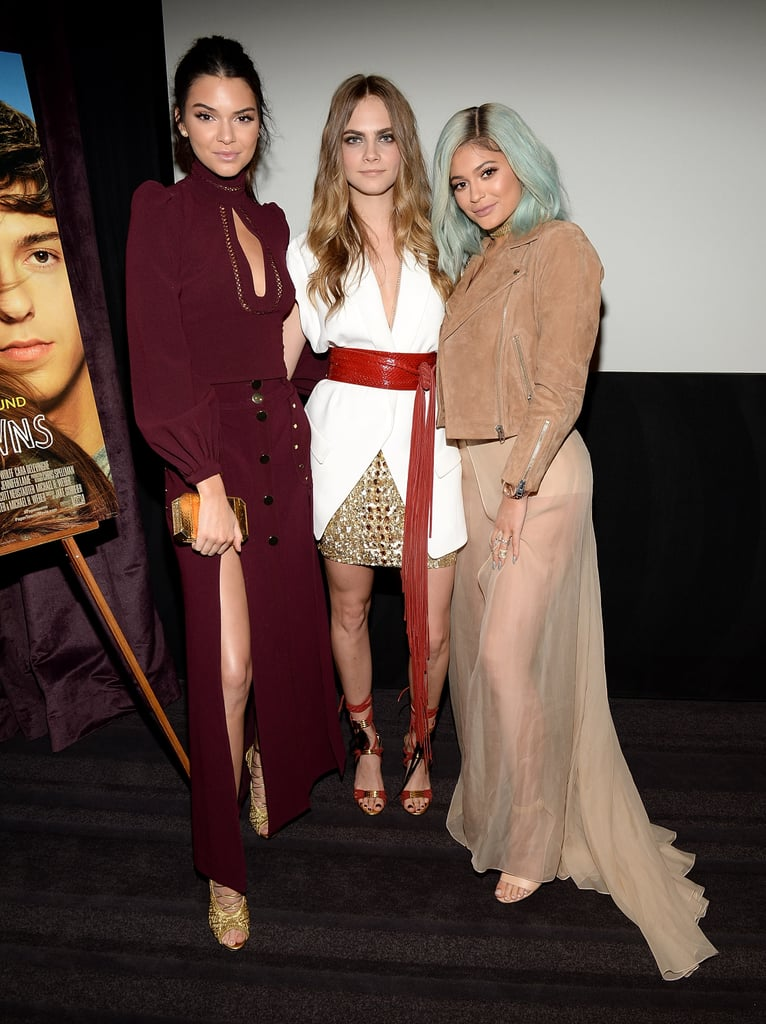 Cara Delevingne and Kendall Jenner at Paper Towns Screening
