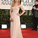 Glee's Dianna Agron Looks Lovely in J. Mendel