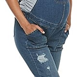 Maternity a:glow Distressed Jean Overalls