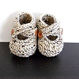 Tweed Newborn Baby Booties
