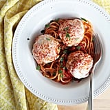 Chicken Parmesan Meatballs With Spaghetti