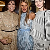 Kris Jenner, Anna Dello Russo, and Kendall Jenner