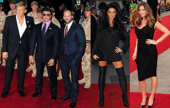 The Expendables London Premiere Including Katie Price, Jason Statham, Sylvester Stallone, Lisa Snowdon