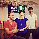 The members of Lady Antebellum filmed a video in their backstage bar. Source: Instagram user lady_antebellum
