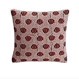 Red Lotus Throw Pillow