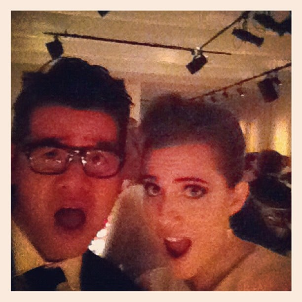Peter Som and Allison Williams got silly for the camera. Source: Instagram user peter_som