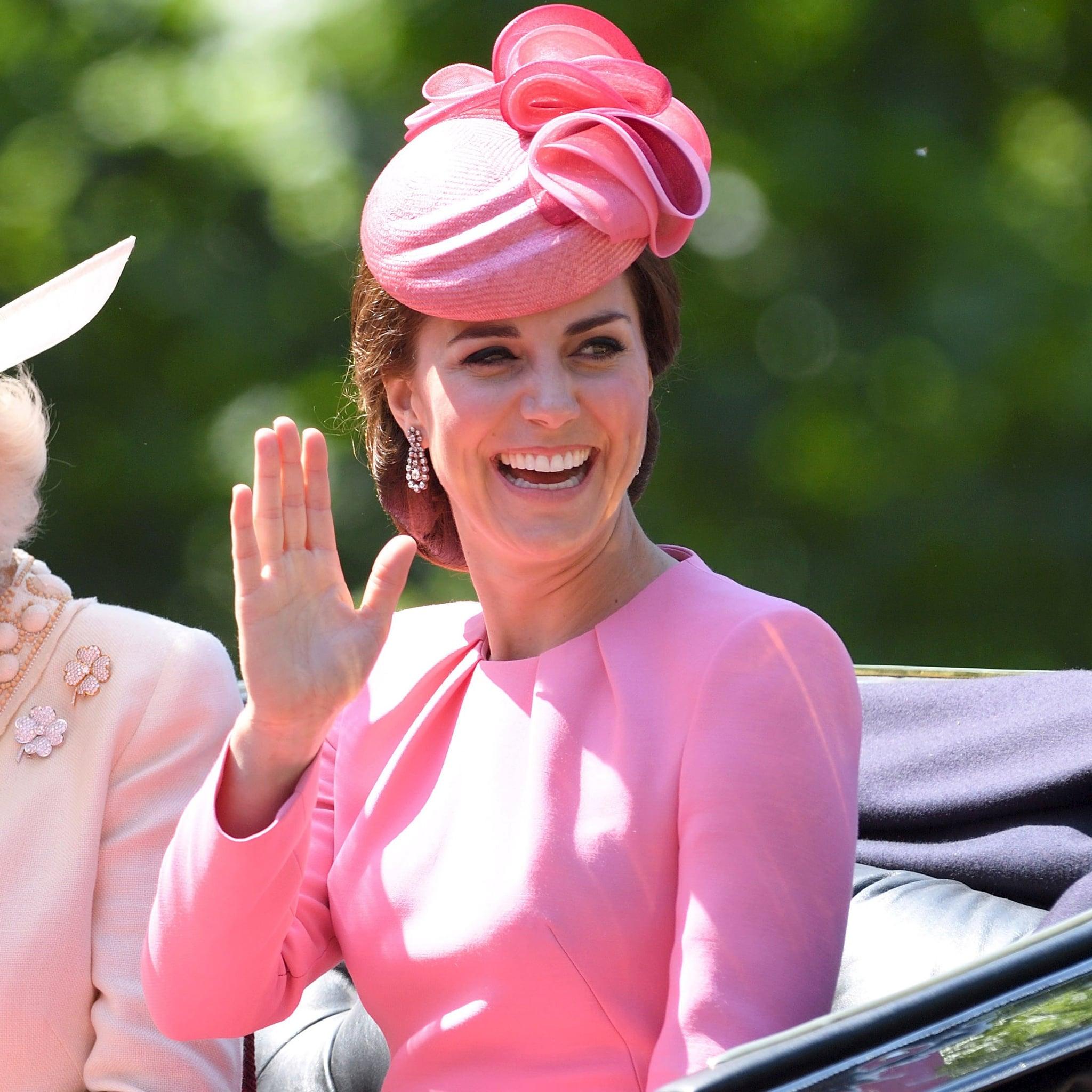Kate Middleton Wearing Pink Alexander McQueen Dress | POPSUGAR Fashion