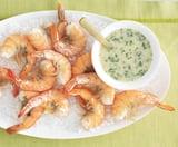 Salt-Roasted Shrimp With Scampi Dip