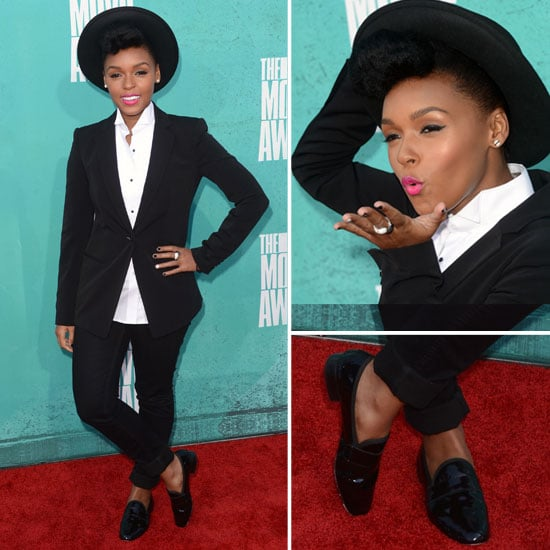 Pictures of Janelle Monae in Manstyle Suit on the red carpet at the 2012 MTV Movie Awards: Rate it or Hate it?